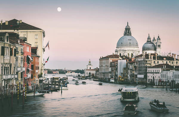 Photograph - Venice Grand Canal At Sunset by Alexandre Rotenberg