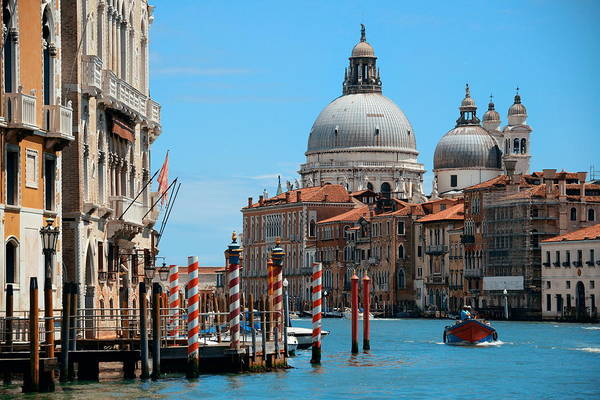 Photograph - Venice Grand Canal Day View by Songquan Deng
