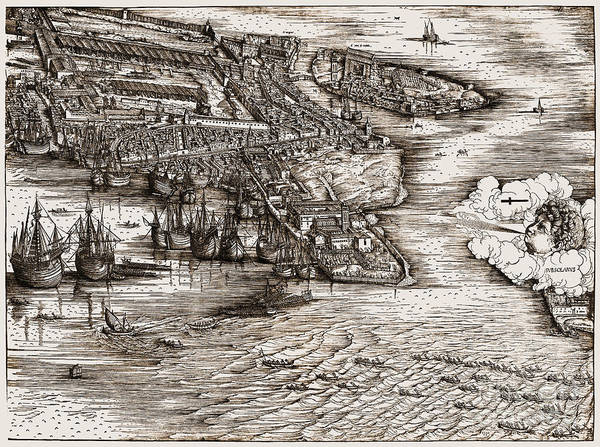Photograph - Venice: Harbor, C1500 by Granger