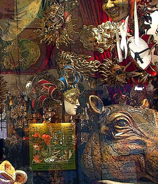 Wall Art - Photograph - Venice Hippo Mask by Mindy Newman