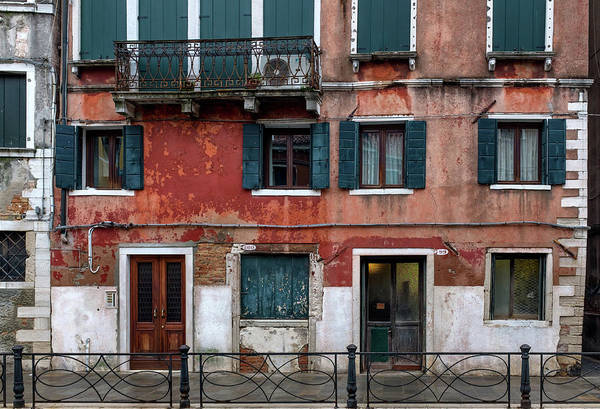 Photograph - Venice Houses Along The Canal by Georgia Fowler