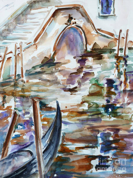 Painting - Venice Impression I by Xueling Zou