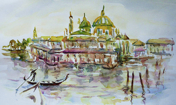Painting - Venice Impression Iv by Xueling Zou