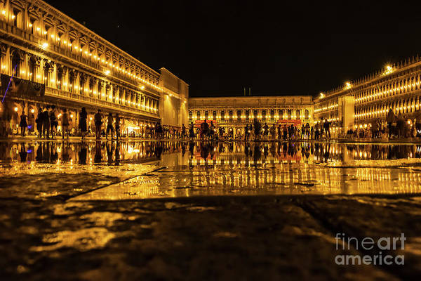 Photograph - Venice In Night. San Marco by Marina Usmanskaya