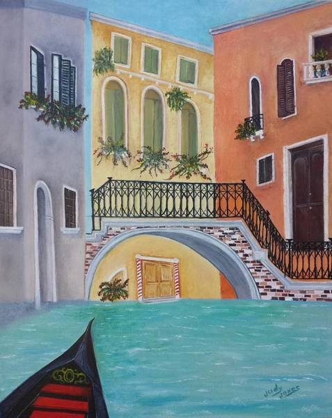 Wall Art - Painting - Venice In Summer by Judy Jones