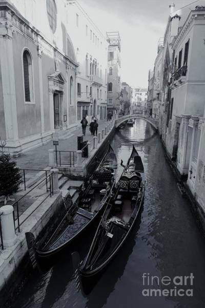 Photograph - Venice In Winter. The Gondolas On The Canal.morning by Marina Usmanskaya