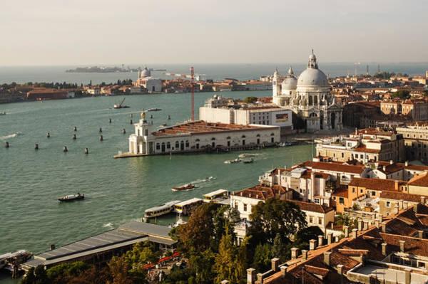 Photograph - Venice, Italy - Basilica Di Santa Maria Della Salute From Above by Georgia Mizuleva