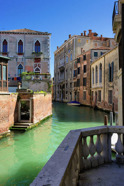 Photograph - Venice Italy Canal And Lovely Old Houses by Matthias Hauser