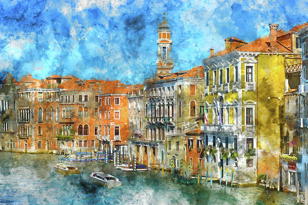 Photograph - Venice Italy In The Summer by Brandon Bourdages