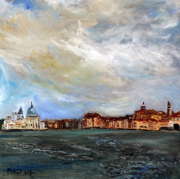 Painting - Venice Lagoon View by Michael Helfen