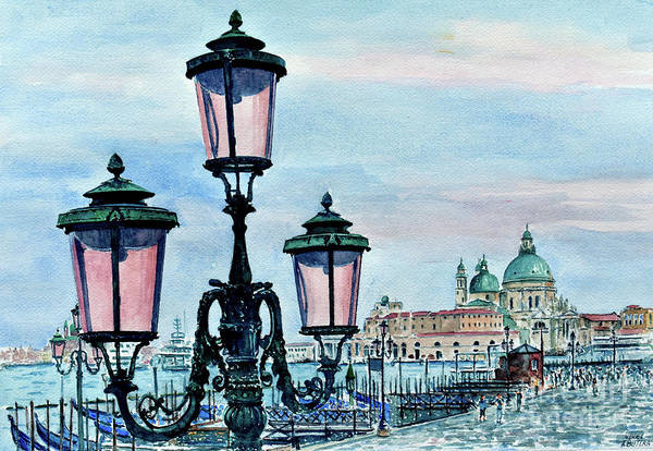 Wall Art - Painting - Venice Lights by Anthony Butera