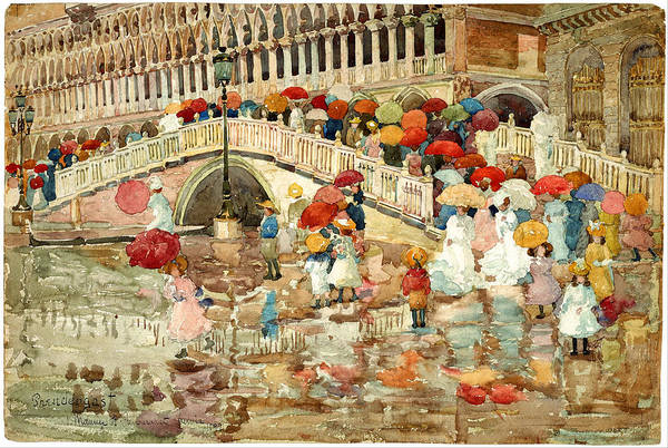 Wall Art - Painting - Venice by Maurice Prendergast