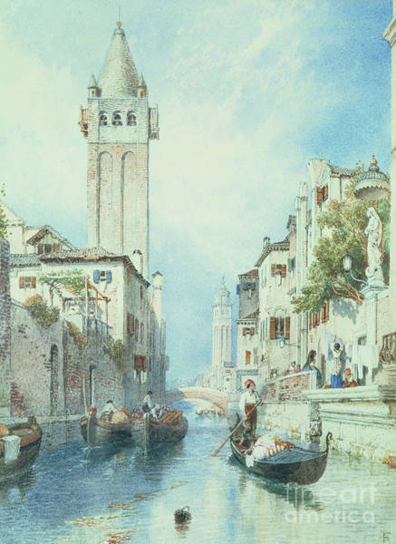 Wall Art - Painting - Venice by Myles Birket Foster