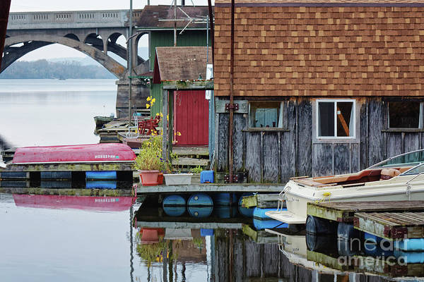 Photograph - Venice On The Big Muddy Winona Mn Boathouses by Kari Yearous