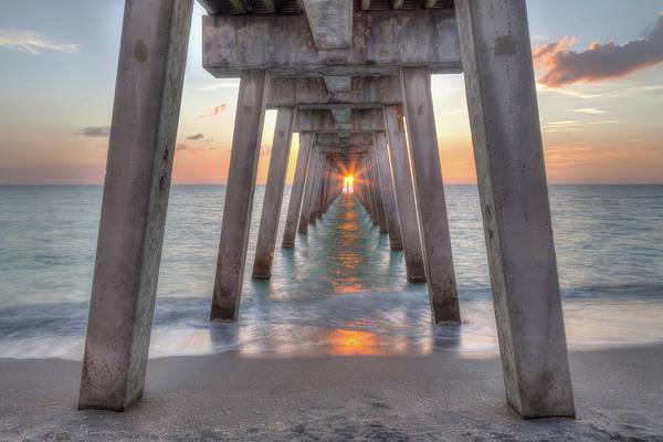 Photograph - Venice Pier Sunset by Paul Schultz