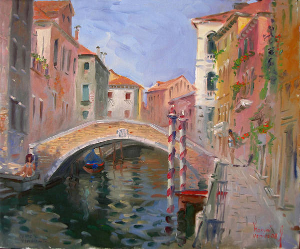 Wall Art - Painting - Venice Ponte Vendrraria by Ylli Haruni