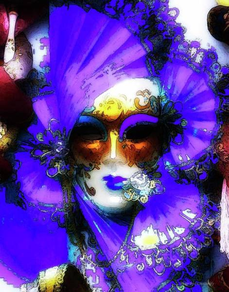 Photograph - Venice Purple Carnival Mask by Coleman Mattingly