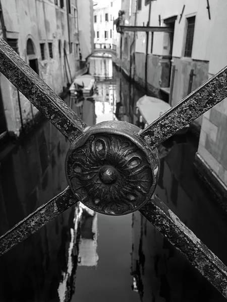 Photograph - Venice Reflection Monochrome by Marina Usmanskaya