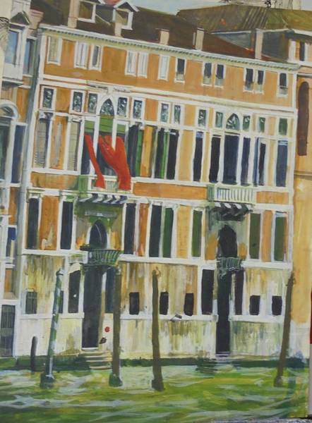 Townscape Wall Art - Drawing - Venice Scene.   by Mike Jeffries