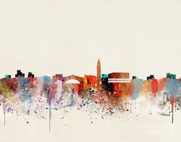 Wall Art - Painting - Venice Skyline by Bri Buckley