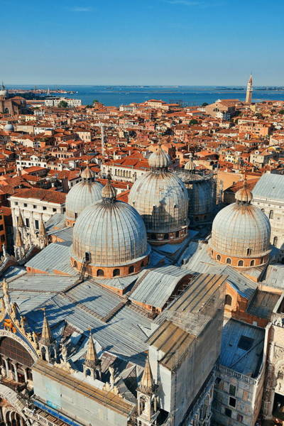 Photograph - Venice Skyline Viewed From Above  by Songquan Deng