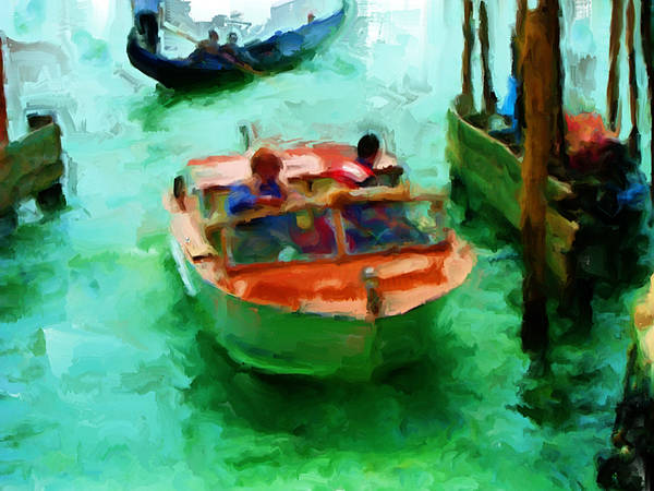 Apostolic Palace Wall Art - Painting - Venice Smooth Boat Ride by Brian Reaves