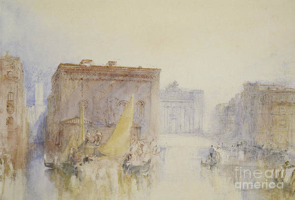 Wall Art - Painting - Venice  The Accademia, 1840 by Joseph Mallord William Turner