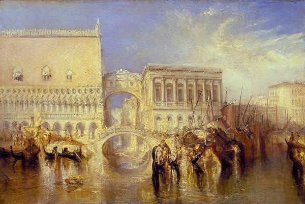 J. M. W. Turner Painting - Venice, The Bridge Of Sighs by JMW Turner