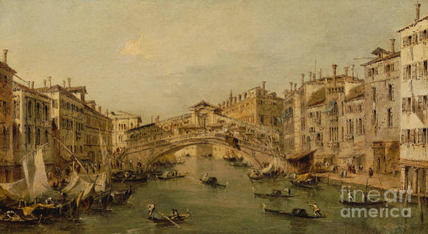 Wall Art - Painting - Venice  The Rialto by Francesco Guardi