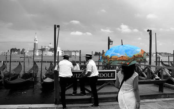 Photograph - Venice Umbrella by Andrew Fare