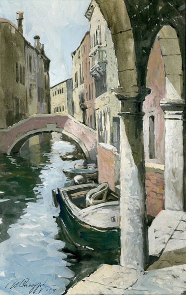 Painting - Venice. Under Arches Of The Old Gallery by Igor Sakurov
