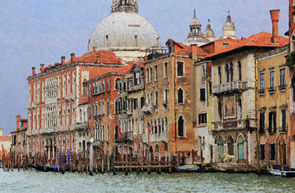Digital Art - Venice Waterfront by Julian Perry