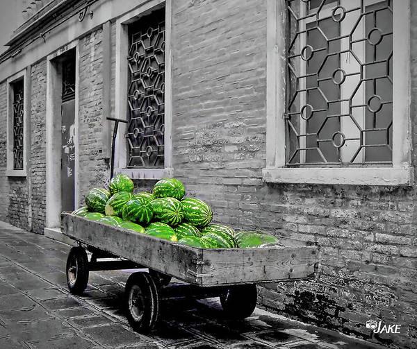 Watermellon Wall Art - Photograph - Venice Watermelons by Jake Steele