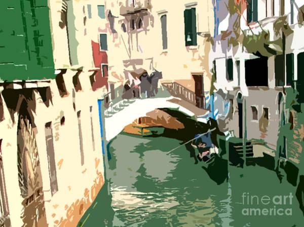 Wall Art - Photograph - Venice White Bridge And Gondola by Mindy Newman
