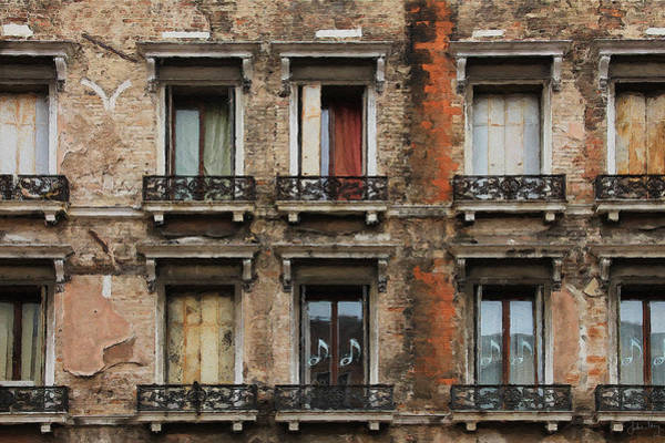 Digital Art - Venice Windows by Julian Perry