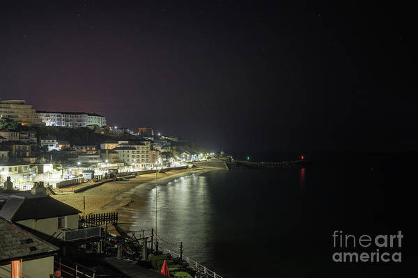 Photograph - Ventnor Bay At Night by Clayton Bastiani