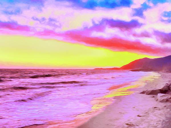 Painting - Ventura Beach Sunset by Dominic Piperata