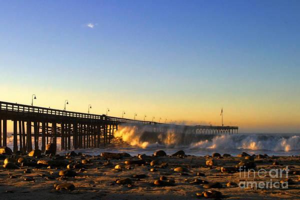 Photograph - Ventura Pier Sturm Sunset by Henrik Lehnerer