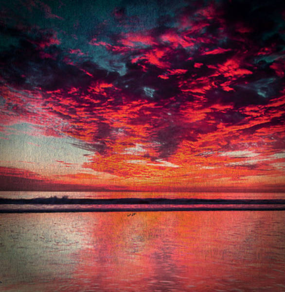 Digital Art - Ventura Sunset by Digital Art Cafe