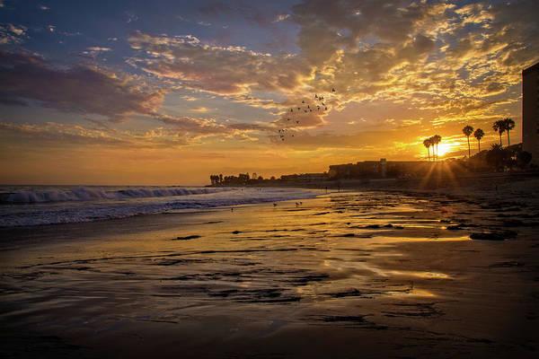 Photograph - Ventura Sunset Reflections by Lynn Bauer