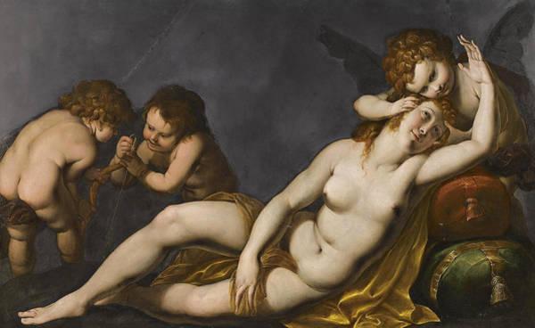 Cesare Painting - Venus And Cupids by Giulio Cesare Procaccini
