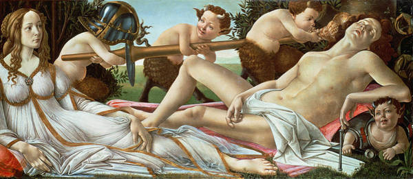 Wall Art - Painting - Venus And Mars by Sandro Botticelli