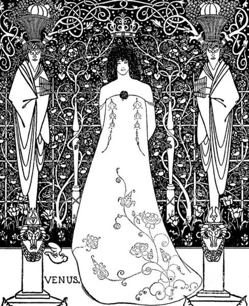 Wall Art - Drawing - Venus And Tannhauser By Aubrey Beardsley by Aubrey Beardsley