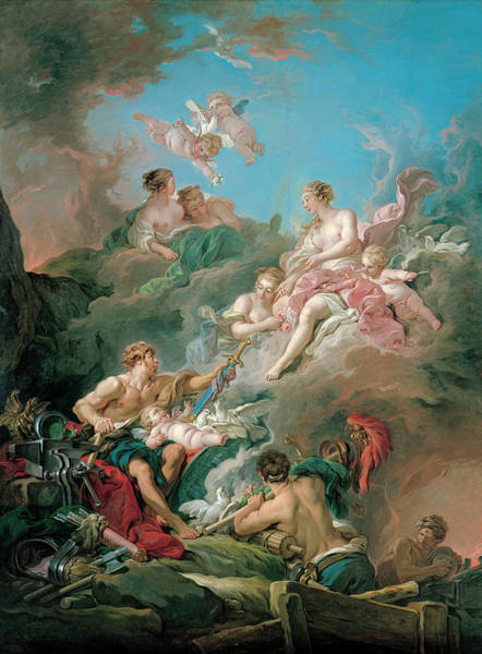 Francois Boucher Painting - Venus At Vulcan's Forge by Francois Boucher