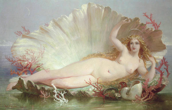 Unclothed Wall Art - Painting - Venus by Henry Courtney Selous
