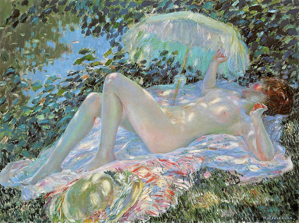 Photograph - Venus In The Sunlight by Carl Frieseke