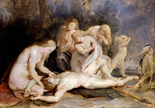 Painting - Venus Mourning Adonis by Peter Paul Rubens