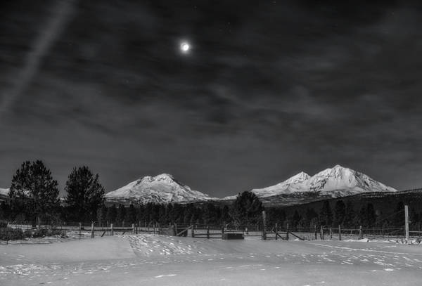 Wall Art - Photograph - Venus Over Three Sisters by Cat Connor