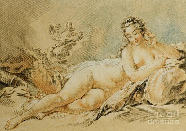 Wall Art - Drawing - Venus Resting by Louis Marin Bonnet