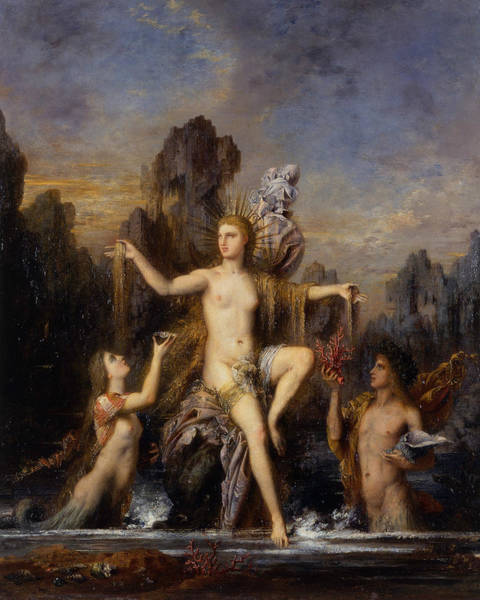 Painting - Venus Rising From The Sea  by Gustave Moreau